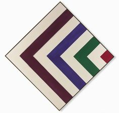 """The post-Plasticiens and Post-Painterly Abstraction artists both rejected thick paint and personal gesture in favour of a thinner, more anonymous paint application. Kenneth Noland, """"C,"""" 1964, Art Gallery of Ontario, © Kenneth Noland / SODRAC (2015)."""