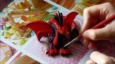 Fimo/Polymer Clay Tutorial: Dragon Drache