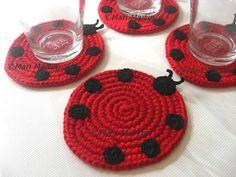 crocheted fruit coasters   Crochet Coasters Mari Martin