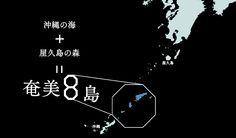 沖縄の海+屋久島の森=奄美8島
