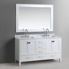 Design Element London Hyde 60 in. Double Bathroom Vanity Set - DEC082A-E