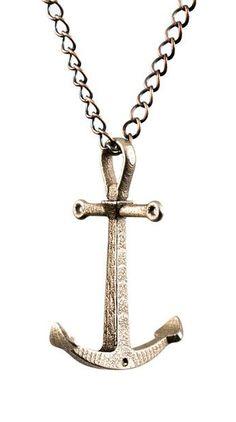 Crossbar Anchor Necklace