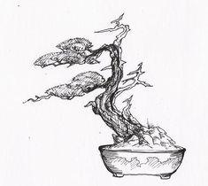 Bonsai Fuki Nagashi - bičovaný větrem