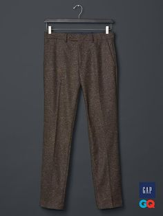 Kick it up a notch with men's pants from Gap. The pants for men that matter right now are all about ease and cool style. Sophisticated Outfits, Classy Outfits, American Uniform, Casual Wear, Men Casual, Tweed Pants, Sharp Dressed Man, Top Coat, Gq