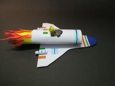Kids Crafts : How to Make a Paper Rocket at Home |How to Make a Mini Space Rocket | Kids Activities - YouTube