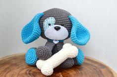 (4) Name: 'Crocheting : Domino The Dog Amigurumi Crochet Pattern $4.99