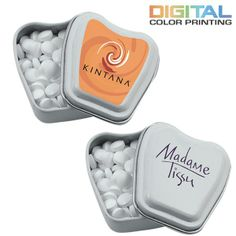 Promotional Tooth Shaped Tin Mints #dentist #logo #promoproducts #marketing | Customized Breath Mints | Advertising Breath Mints