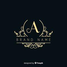 Ornamento logo y conjunto de diseño de iconos. | Vector Premium Lettering Design, Branding Design, Luxury Logo Design, Logo Desing, Vector Logo Design, Vector Vector, Vector Freepik, Logo Design Template, Logo Abstrait