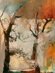 Connection-Abstract Landscape by Joan Fullerton Mixed Media ~ 10 x 8