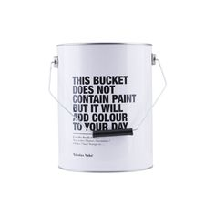 Container Nicolas Vahe black and white is a super cool 'paint' bucket. Use it for storage, wine cooler, or gift wrap. The hit of this autumn!