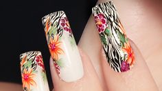 Savage Floral Nail Art . Next Nature . Nails 21