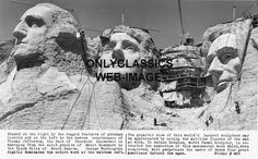 Mount Rushmore Under Construction   Details about 1936 MOUNT RUSHMORE UNDER CONSTRUCTION PHOTO -AMERICANA