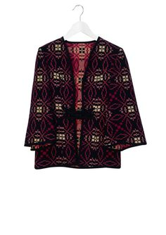 Welsh Tapestry Jacket Welsh, Kimono Top, Tapestry, Jackets, Vintage, Beautiful, Tops, Women, Fashion