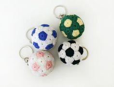 "Crochet Pattern for Beginners ""Soccer Ball"" - Amigurumi Crochet Keychain, Crochet Bookmarks, Crochet Patterns For Beginners, Knitting For Beginners, Crochet Gifts, Crochet Toys, Crazy Patterns, Crochet Ball, Knitting Blogs"