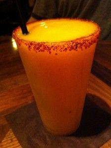 Orange Mango Fire Margarita - EPCOT - Mexico Showcase in La Hacienda de San Angel - Orlando, FL
