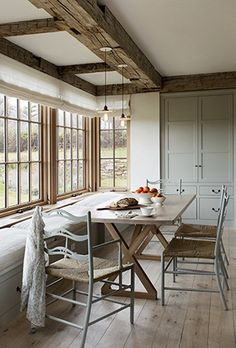 Looking for for pictures for farmhouse interior? Check this out for perfect farmhouse interior pictures. This unique farmhouse interior ideas will look terrific. Modern Farmhouse Interiors, Modern Farmhouse Design, Rustic Farmhouse, Farmhouse Style, Farmhouse Ideas, Farmhouse Chairs, Rustic Wood, Rustic Table, Cottage Style