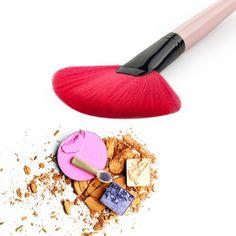 Fan Shaped Makeup Brush Blending Highlighter Contour Face Powder Brushes Beauty