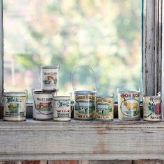 Vintage Style Milk Can Planter, Set of 8 1