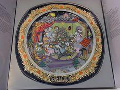 Rosenthal Bjorn Wiinblad Christmas Plate in Box 1986 #1