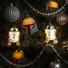 Star Wars Boba Fett Helmet String Lights Additional Image
