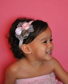 etsy headband-and this lil girl is such a cutie