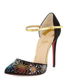 303e1a5bb20 CHRISTIAN LOUBOUTIN Rivierina On Fire 100Mm Suede Red Sole Pump.   christianlouboutin  shoes