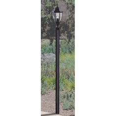 "Charlton Home Oakhill 84"" Direct Burial Post Finish: Matte Black"