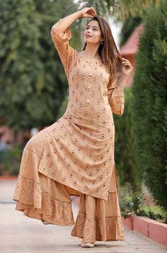 Sea Green /& Gold-Toned Printed Straight Kurta For Women Kurta Women Kurti Dress Indian Dress Ethnic Wear Women Kurtis For Women