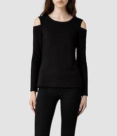 Womens Vico Top (Black) | ALLSAINTS.com