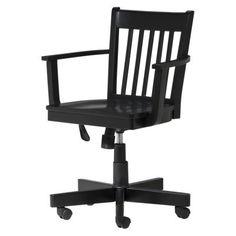 Silla de escritorio Threshold™ Avington de madera con ruedas en Target $40000 (US$79.98)