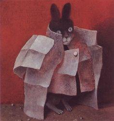 Stasys-Eidrigevicius--A-Newspaper-dress