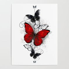 Butterfly Foot Tattoo, Butterfly Tattoos For Women, Butterfly Tattoo Designs, Red Butterfly, Butterfly Painting, Butterfly Wallpaper, Butterfly Pictures, Lip Print Tattoos, Body Art Tattoos