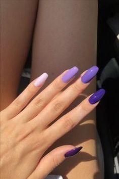 Purple Acrylic Nails, Acrylic Nails Coffin Short, Summer Acrylic Nails, Best Acrylic Nails, Acrylic Nail Designs, Coffin Nails, Summer Nails, Violet Nails, Ombre Nail
