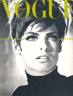 Linda Evangelista covers Vogue Italia - February 1990