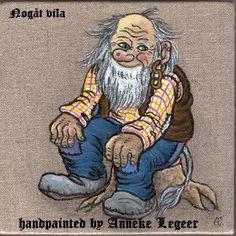 """ Nogåt vila "",   handpainted by Anneke Legeer,  the Netherlands,  inspired by Rolf Lidberg.  Sweden , Värmland, 11 september 2010."