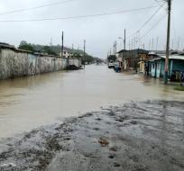 ESMERALDAS, Ecuador.- La jornada escolar se retomará el 23 de enero. Precipitaciones afectan también a Manabí. Foto: Secretaría de Gestión de Riesgos