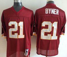 Mitchell And Ness Washington Redskins #21 Earnest Byner Red Throwback Stitched NFL  Washington Redskins Jersey