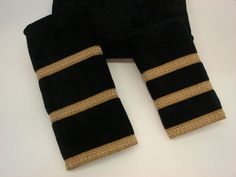 This three piece embellished decorative fashion towel set is a great addition to any bathroom decor. The towels are created from velour towel fabric with polyester band fabrics. It features and is adorned Hand Towel Sets, Hand Towels, Black And Gold Bathroom, Taupe Bathroom, Bathroom Towels, Master Bathroom, Black Towels, Fingertip Towels, Decorative Towels