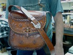 Purse / Women / Leather / Custom / Hand Tooled / Cobbled /  Leather Bag  / Large / Woman / Hand Made / Leather Bag, Purse