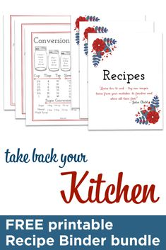 If you've ever wished you could keep all of your... 📎 Recipes, 📎 Meal Plans, 📎 Shopping Lists, 📎 Family Favorites, 📎 Pantry and Freezer Inventory ...and MORE in ONE binder? Here's your opportunity! Download the FREE Recipe Binder printable here.