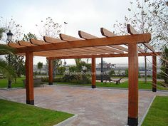 pergolas de madera para exteriores buscar con google