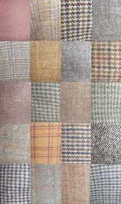 Harris Tweed jacket fabrics.
