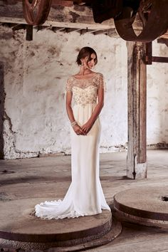Anna Campbell Bridal | Adele Dress | Vintage-inspired hand embellished beaded wedding gown