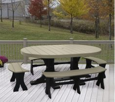 Tables :: Oval Table Set #3 Free Shipping - Products | Yoder Woodcrafters