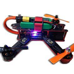 Targethobby Carbon Fiber QAV210 FPV 4 Axis Quadcopter Kit W/ Hobbymate 2204 Motor, Upgrade BLHeli 15A ESC's,Props, Motor Protector, Upgrade 5-IN-1 Function 5v 12v PDB , Wrench, Battery Paste Belt