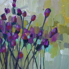jillvansickle.com  painting, artwork, floral