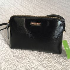 Kate spade Hanna bixby place black crossbody purse NWT Kate spade beautiful black crossbody/shoulder bag.  Adjustable strap.  Comes with tags attached, care card and dust bag.  Please use the offer button for your offers😁💕🌹. kate spade Bags Crossbody Bags