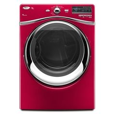 Whirlpool Duet 7.4 Cu. Ft. Stackable Electric Dryer (Color: Cranberry)