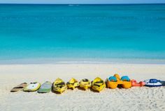 Lots and lots and lots of great watersports at The Alexandra, to use in the beautiful ocean off of Grace Bay Beach, TCI
