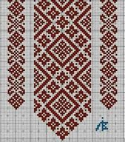 Tina's handicraft : 148 different designs for woven, knitted, crochet and embroidery Cross Stitch Borders, Cross Stitch Designs, Cross Stitching, Cross Stitch Patterns, Folk Embroidery, Cross Stitch Embroidery, Embroidery Patterns, Motifs Blackwork, Crochet Cross